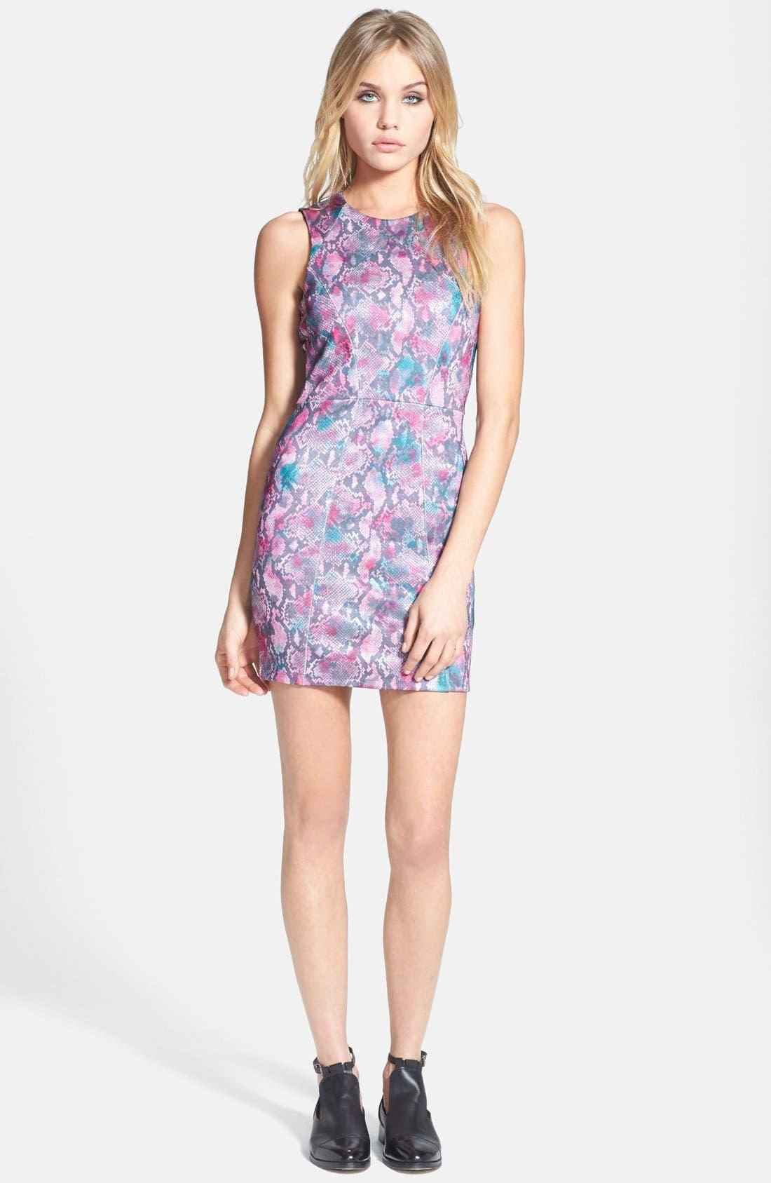 Main Image - Topshop Snake Print Body-Con Dress