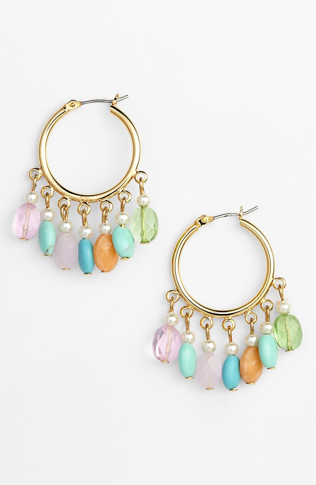 Alternate Image 1 Selected - Lauren Ralph Lauren Beaded Hoop Earrings