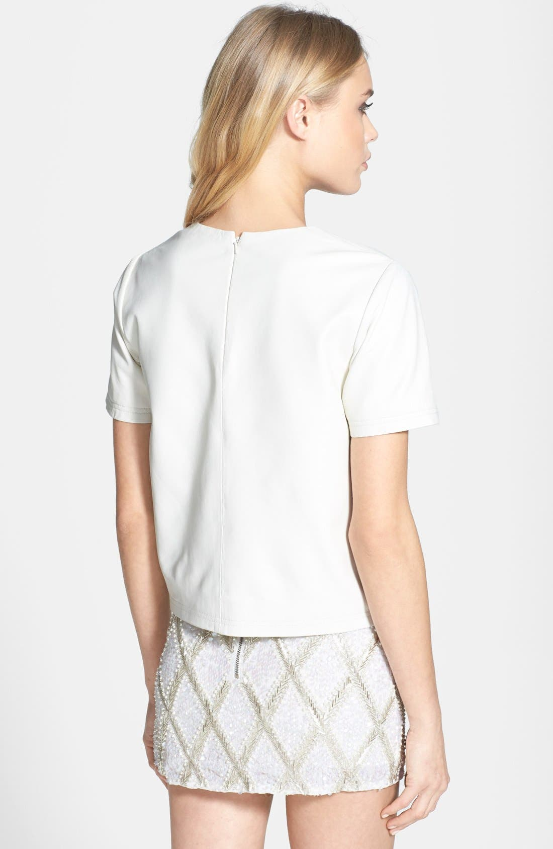 Alternate Image 2  - Topshop 'The Collection Starring Kate Bosworth' Leather Tee