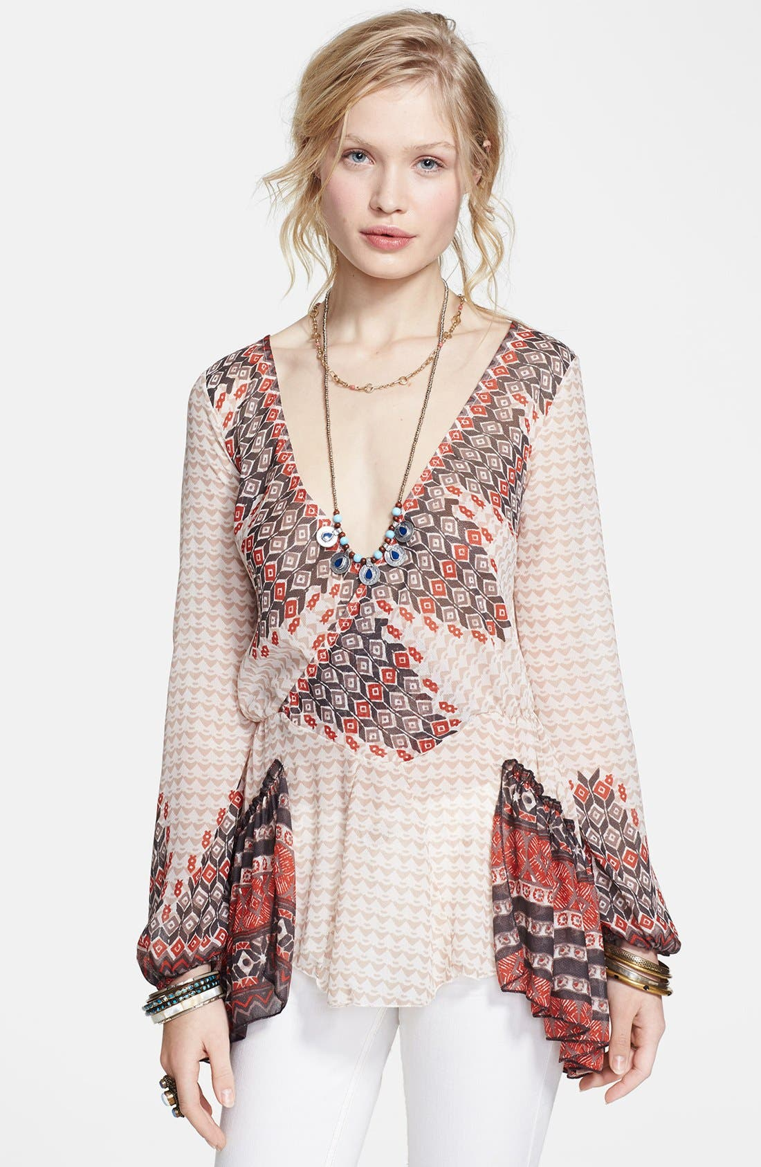 Main Image - Free People 'Into the Mystic' Peasant Top
