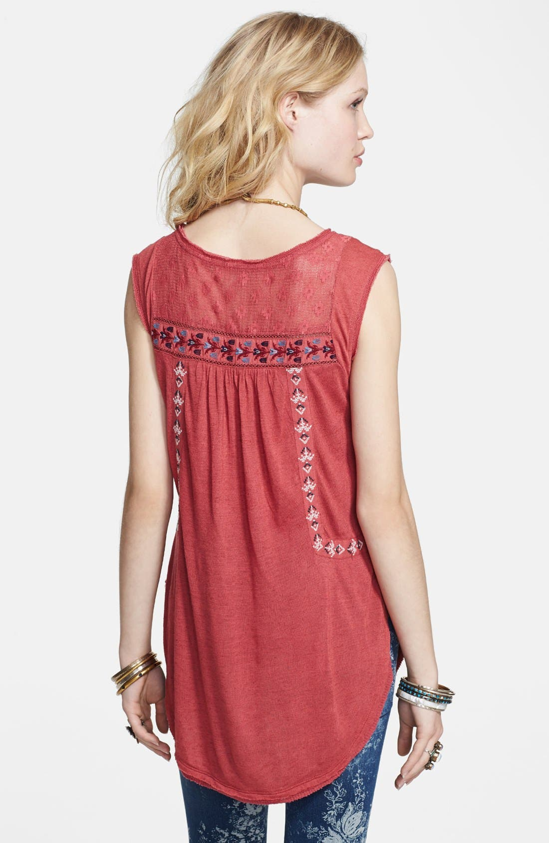 Alternate Image 2  - Free People 'Reckless Abandon' Embroidered Tunic Top