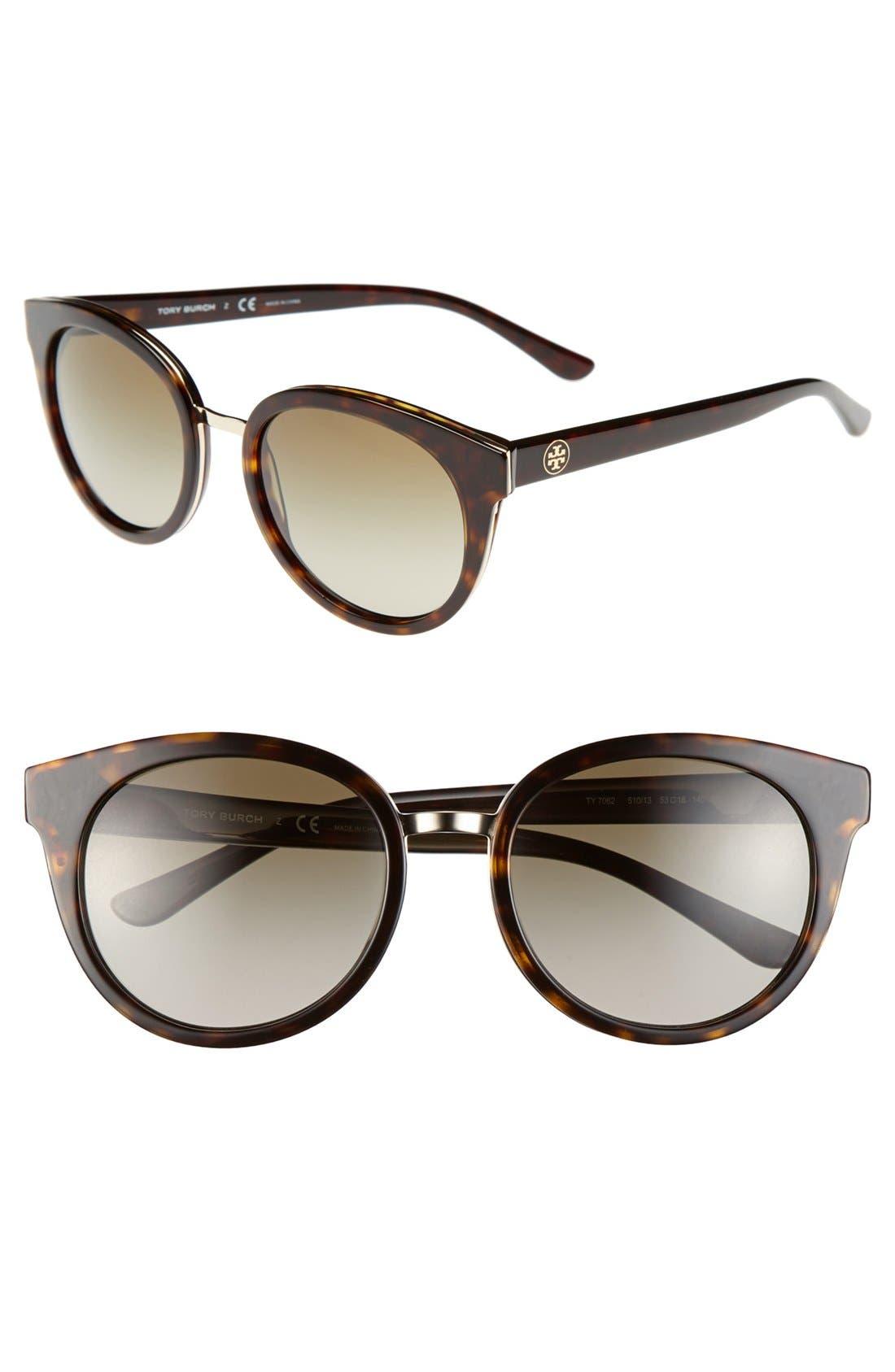 Main Image - Tory Burch 'Phantos' 53mm Retro Sunglasses