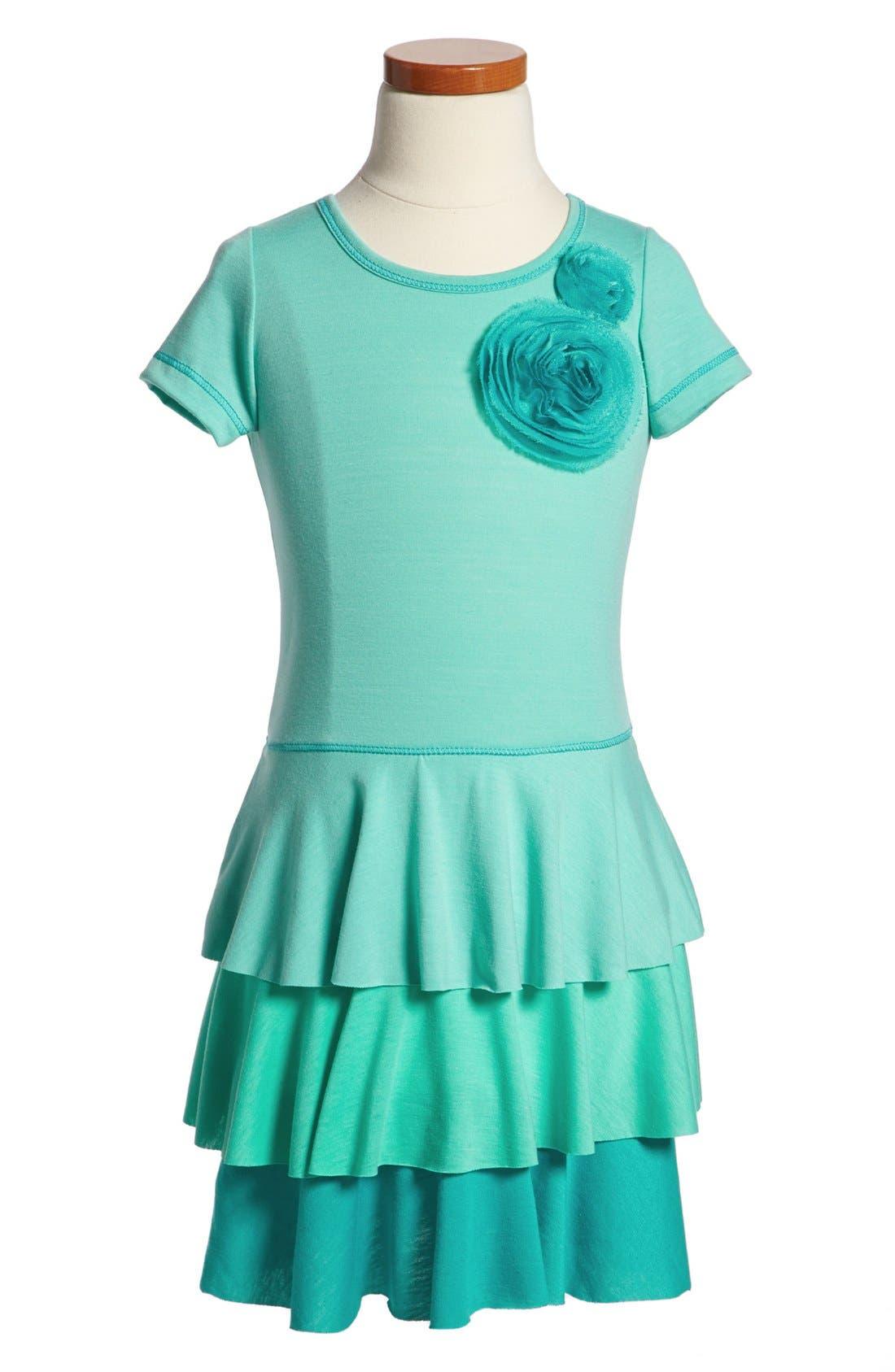 Main Image - Pink Vanilla Tiered Dress (Little Girls)