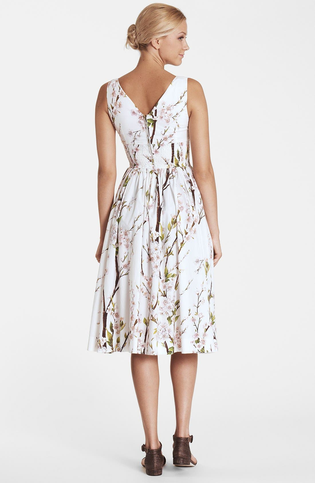 Alternate Image 2  - Dolce&Gabbana Print Fit & Flare Dress