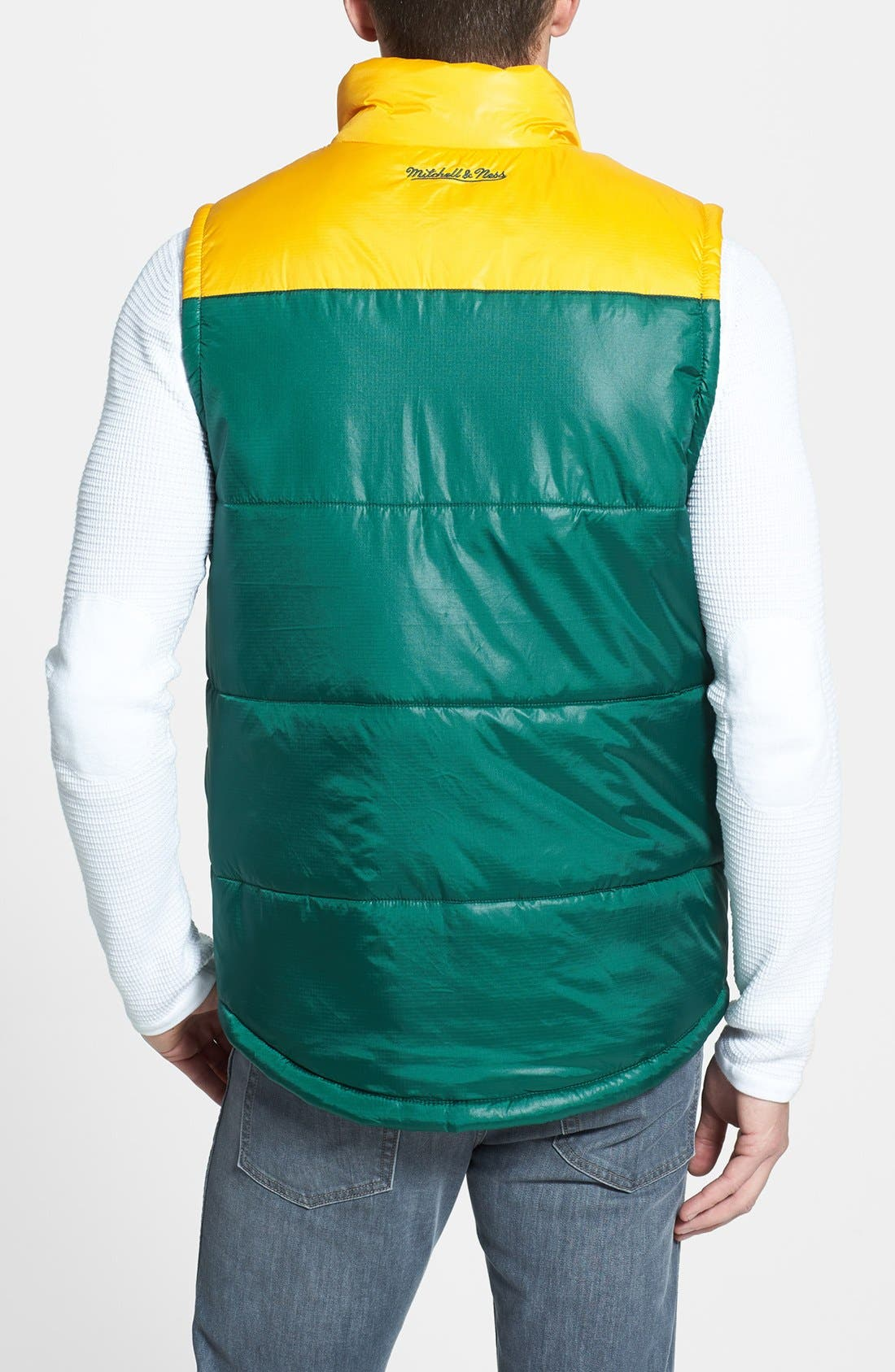Alternate Image 2  - Mitchell & Ness 'Winning Team - Green Bay Packers' Quilted Vest