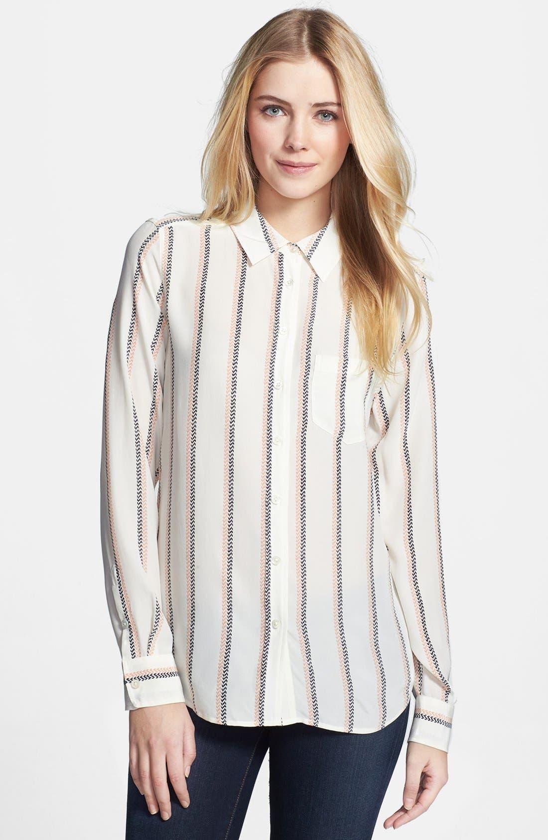 Main Image - Equipment 'Brett' Stripe Silk Shirt