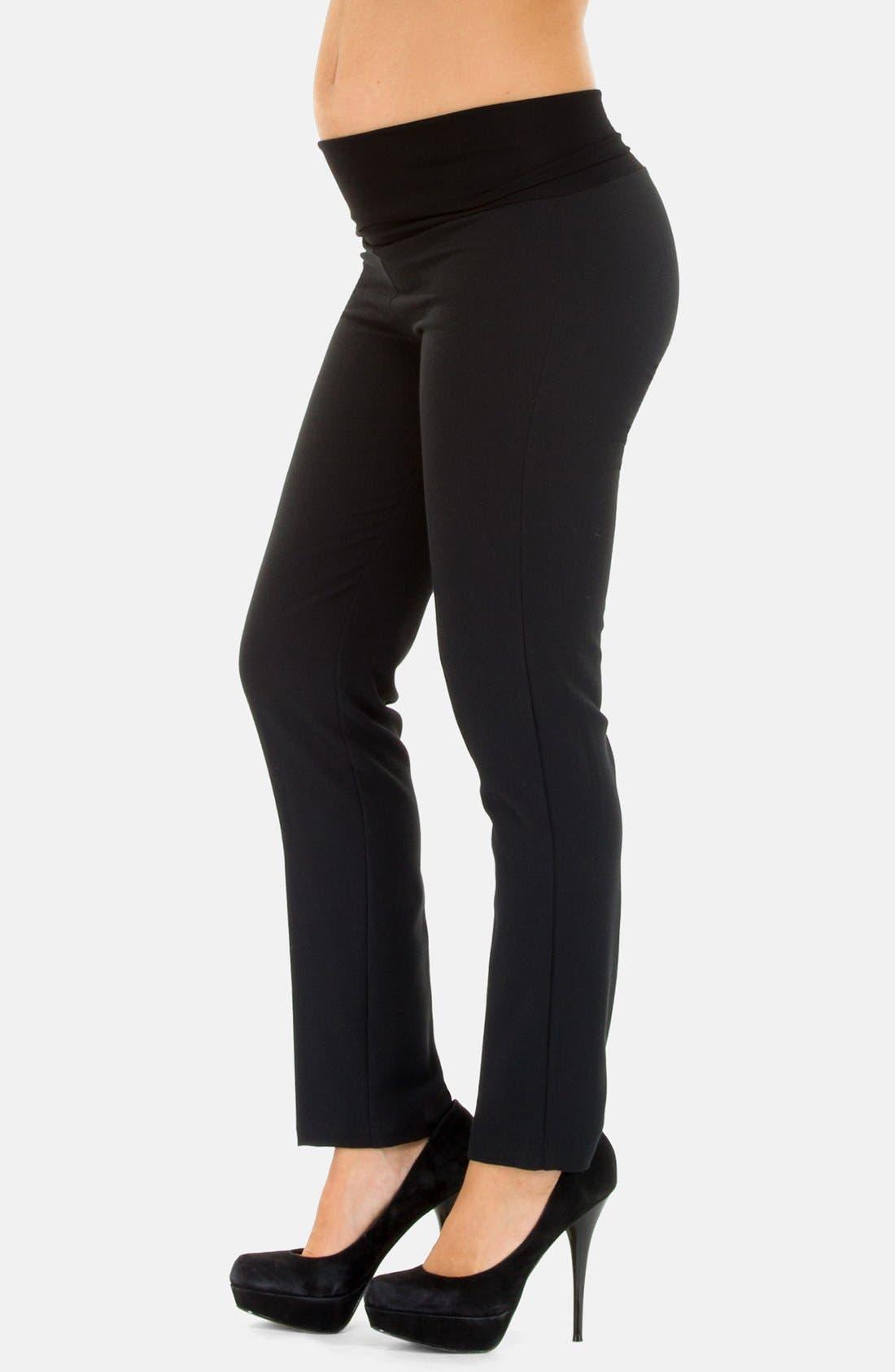 Alternate Image 3  - Olian Skinny Leg Maternity Pants