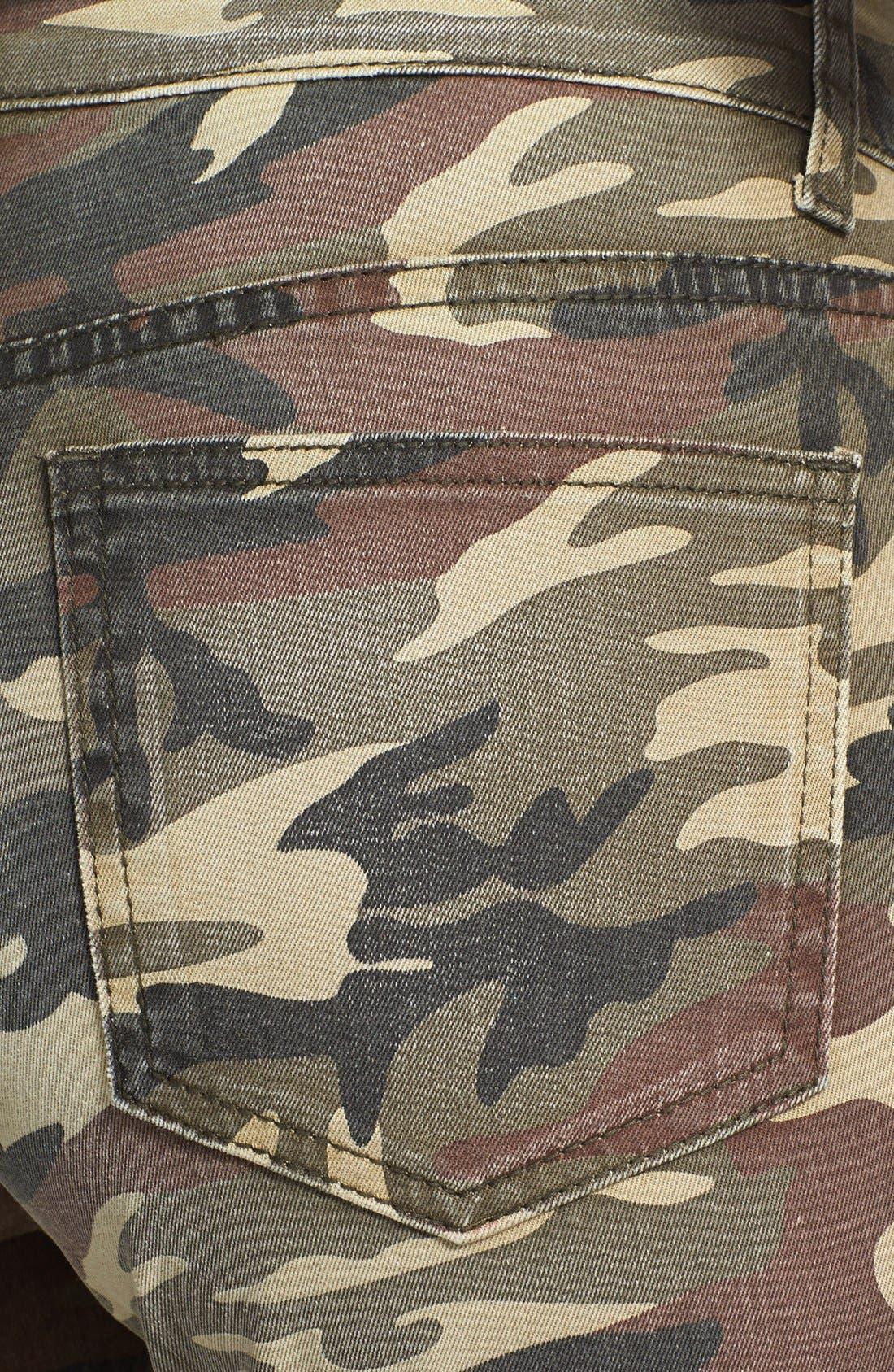 Alternate Image 3  - KUT from the Kloth 'Mia' Camo Skinny Jeans (Olive)