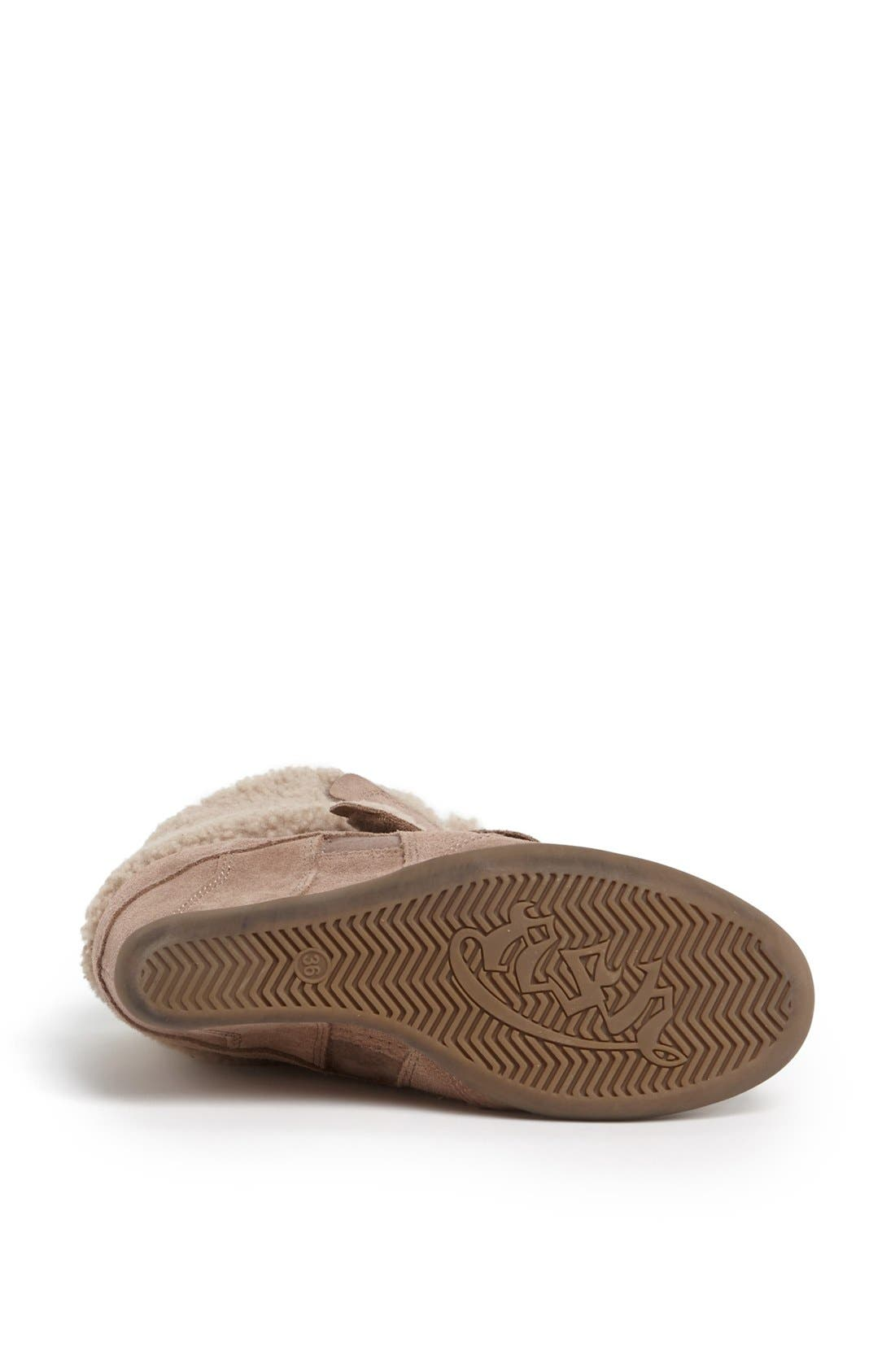 Alternate Image 4  - Ash 'Brizz' Shearling Cuff Hidden Wedge Sneaker