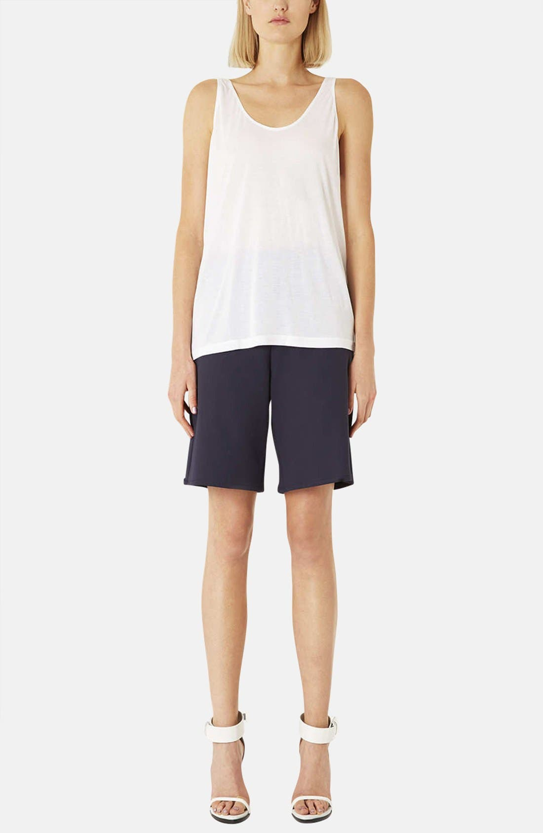 Alternate Image 5  - Topshop Boutique Relaxed Modal & Cashmere Tank