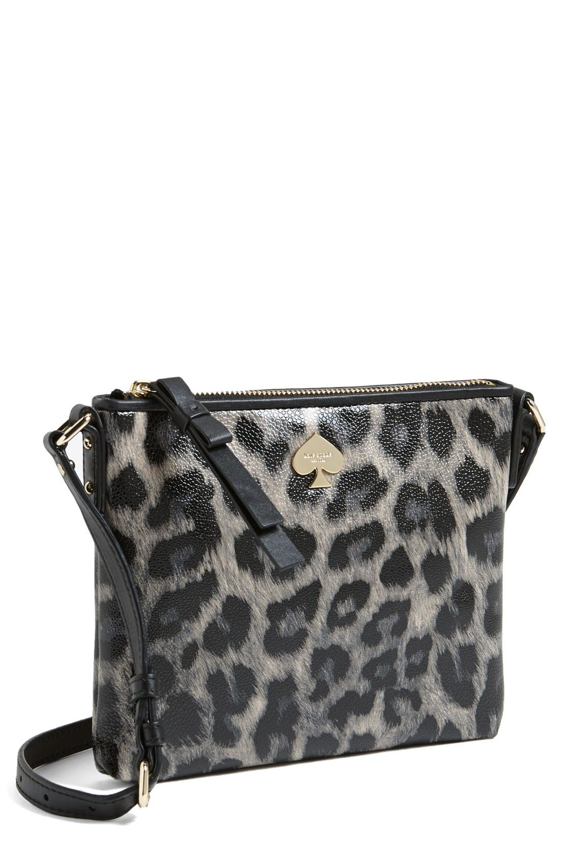 Alternate Image 1 Selected - kate spade new york 'leroy street - animal print tenley' crossbody bag
