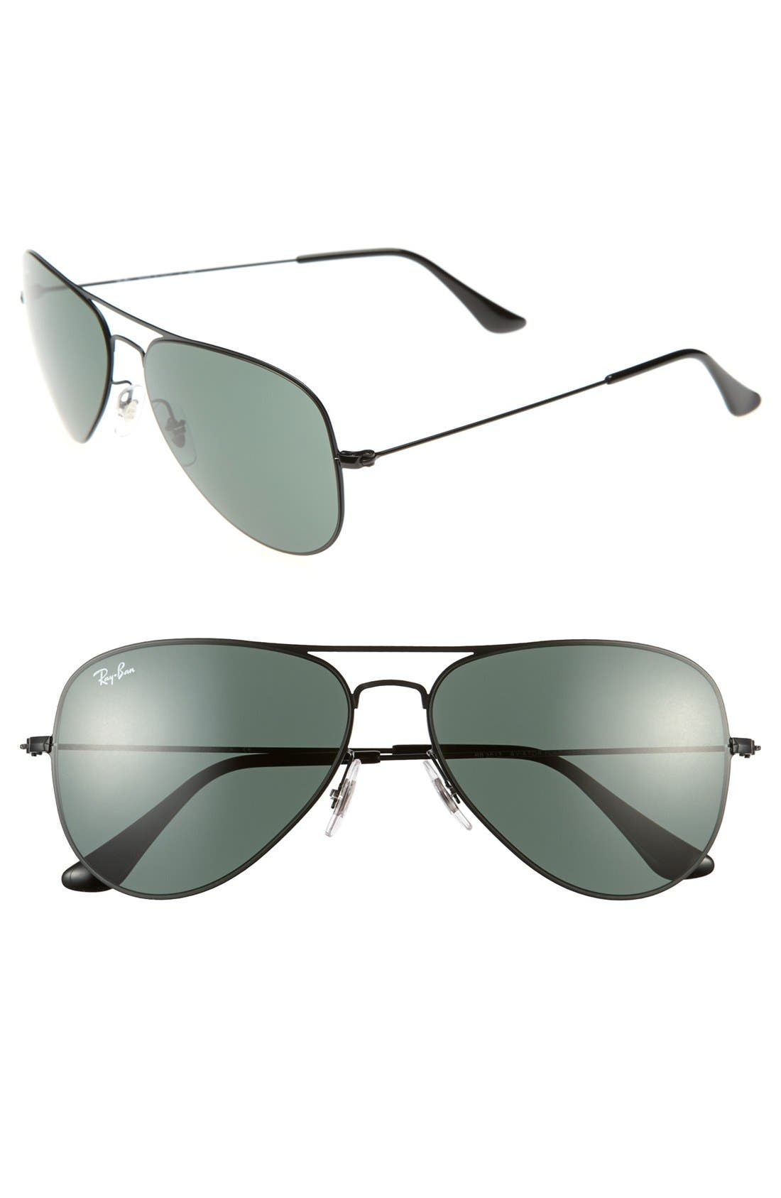Alternate Image 1 Selected - Ray-Ban 'Aviator Flat Metal' 58mm Sunglasses