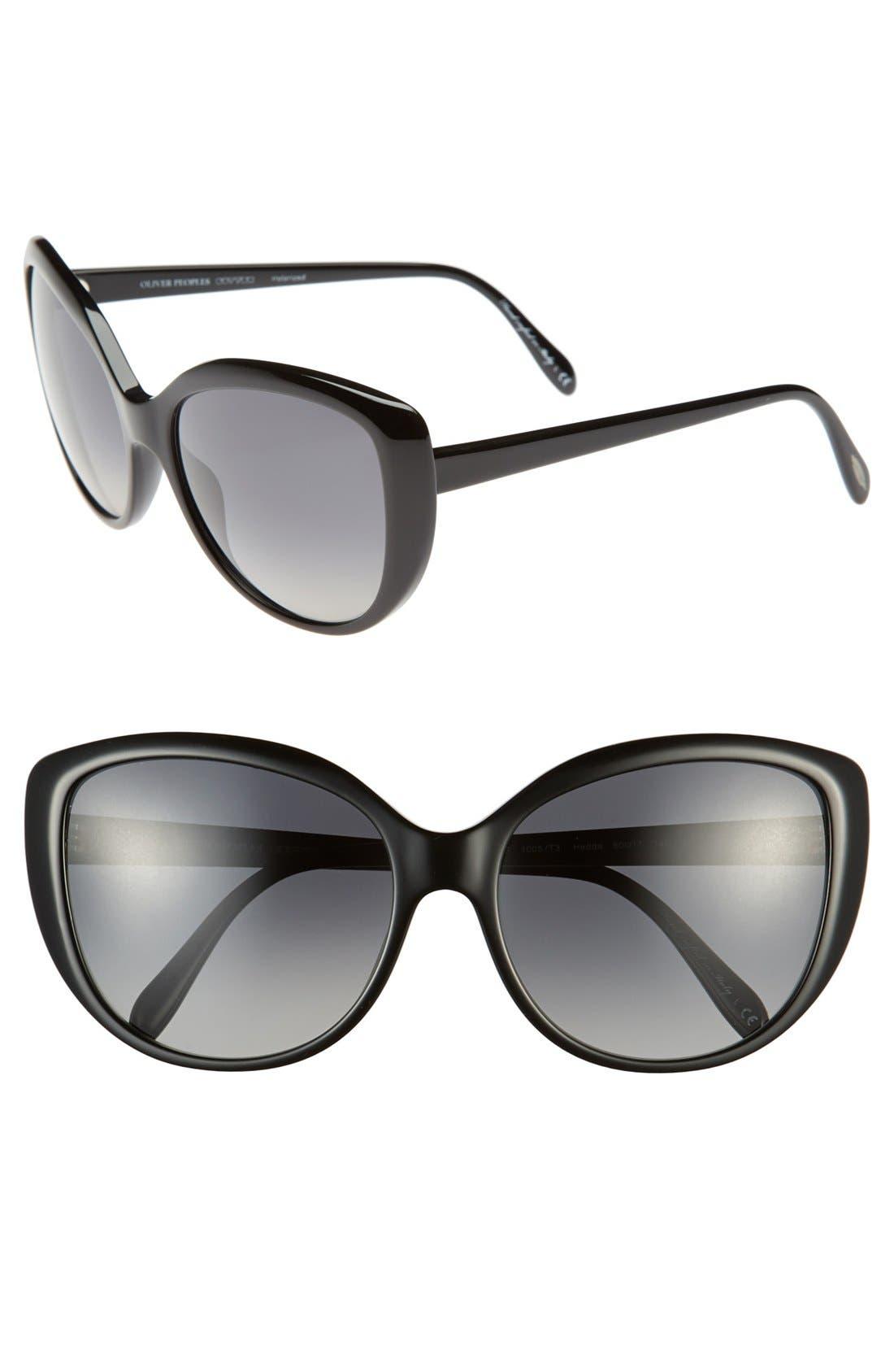 Alternate Image 1 Selected - Oliver Peoples 'Hedda' 60mm Polarized Sunglasses