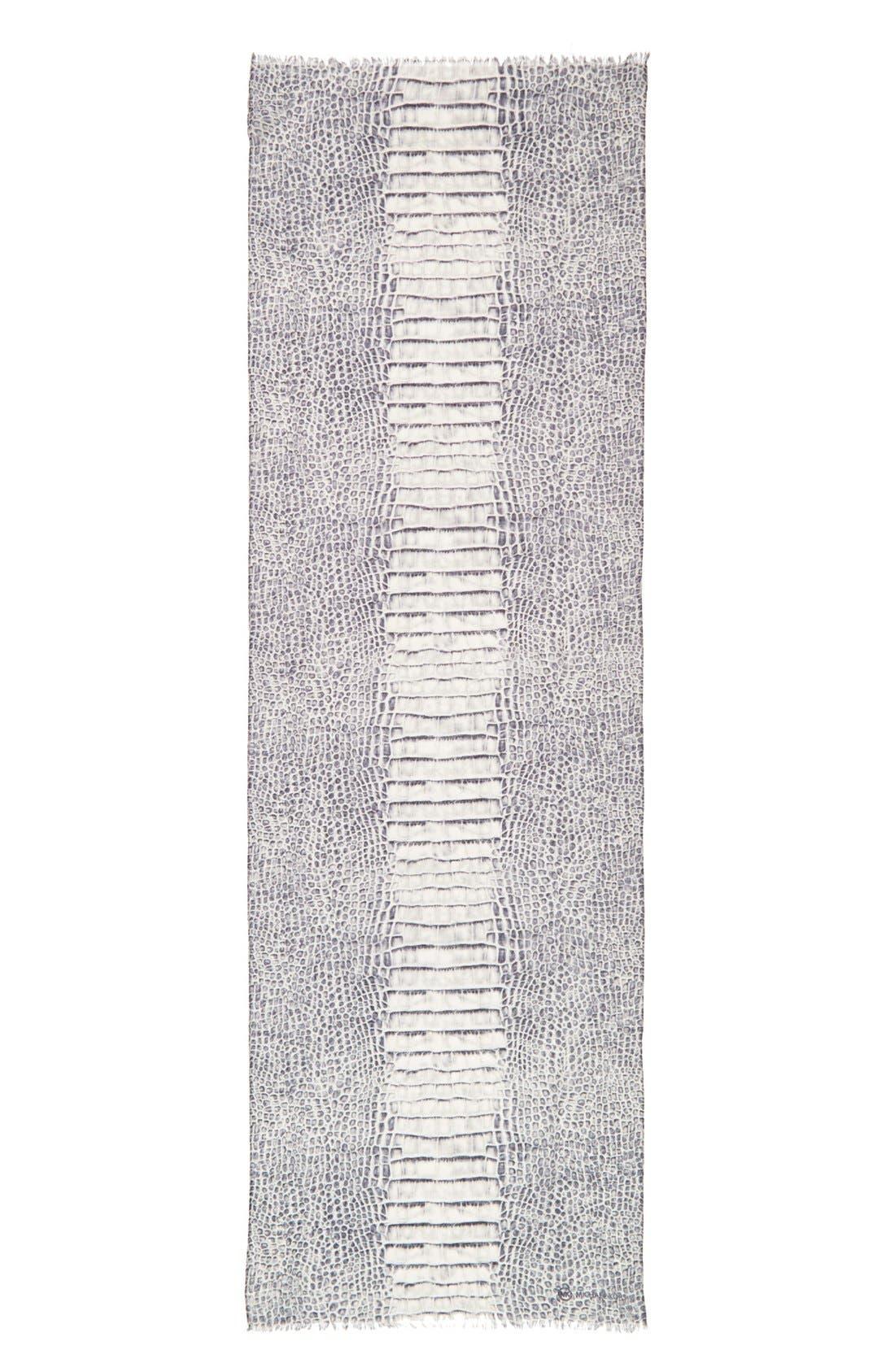 Alternate Image 2  - MICHAEL Michael Kors 'Spined Croc' Wool & Silk Scarf