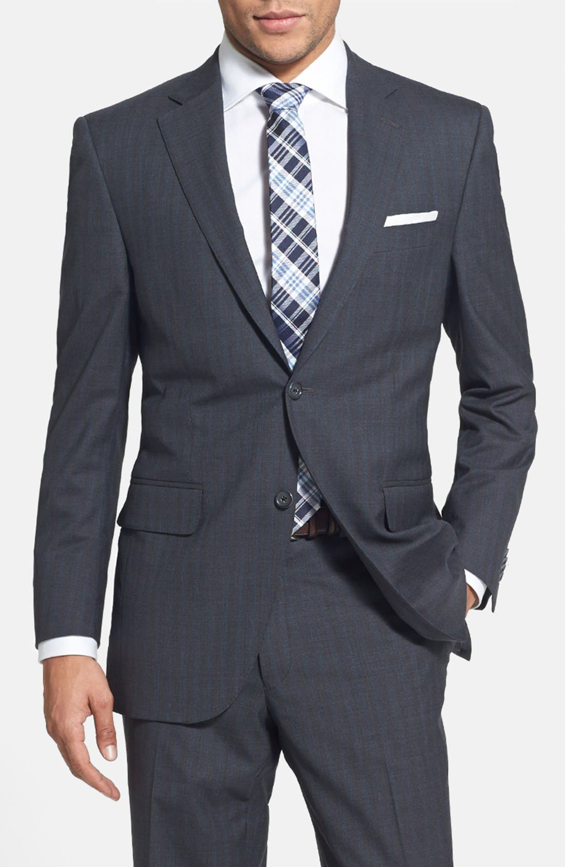 Alternate Image 3  - Peter Millar Classic Fit Stripe Suit