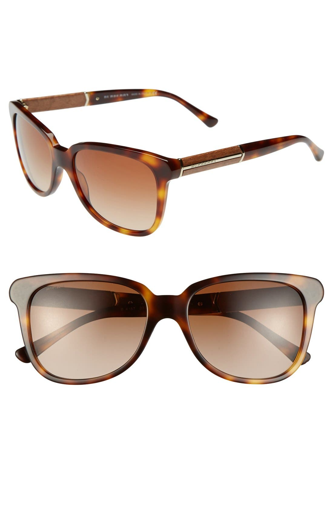 Alternate Image 1 Selected - Burberry Square 56mm Sunglasses