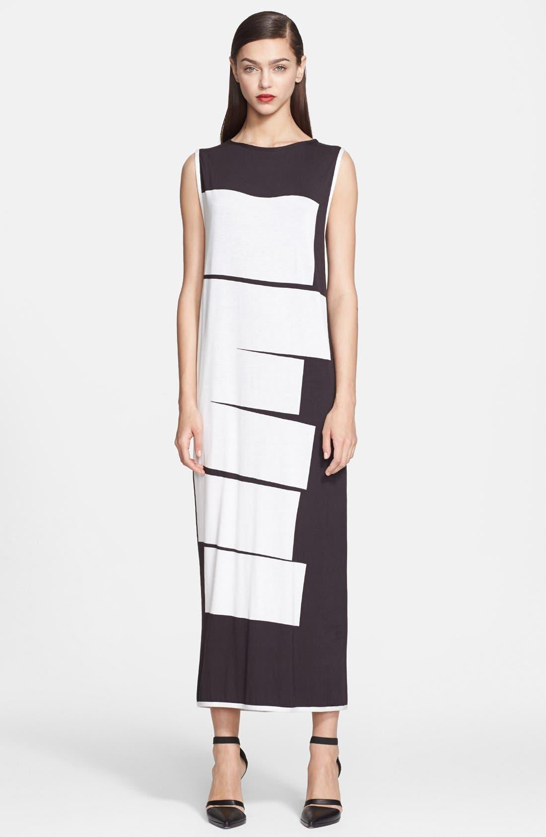 Main Image - Helmut Lang Lithograph Print Jersey Maxi Dress