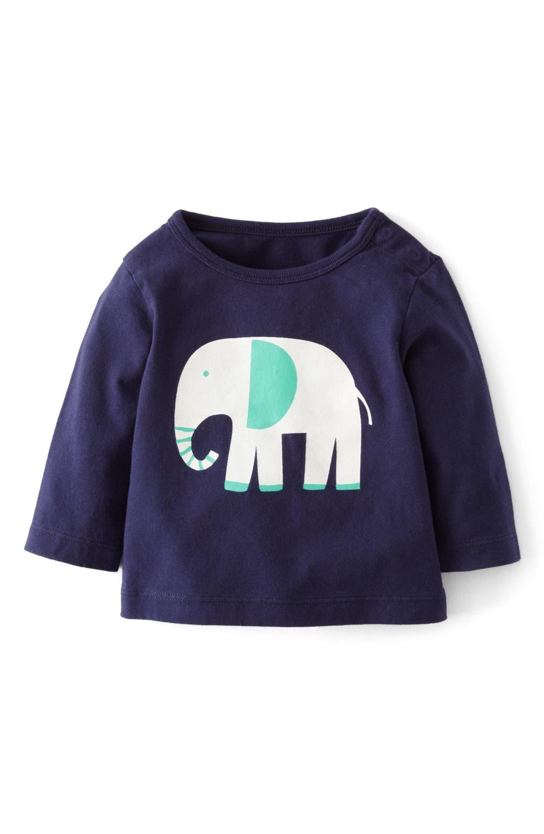 Main Image - Mini Boden 'Fun' Print Logo T-Shirt (Baby Boys)