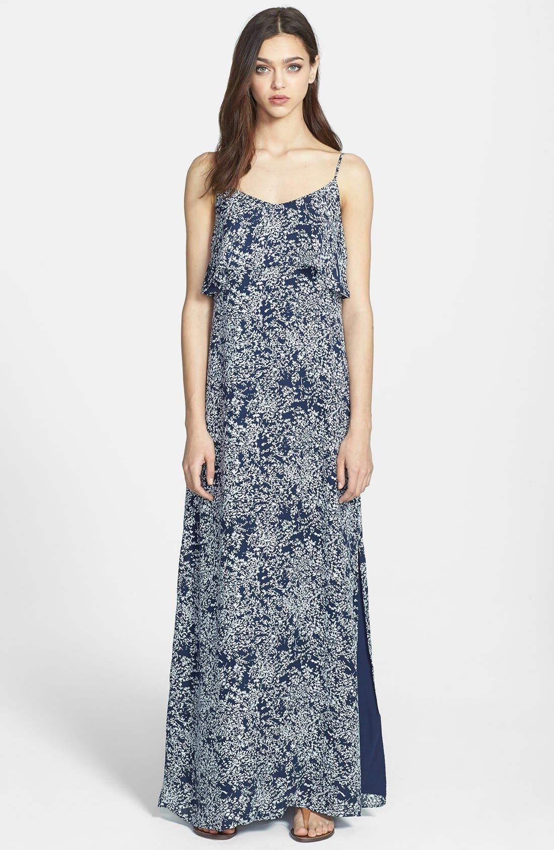 Alternate Image 1 Selected - Joie 'Hydeia' Tiered Silk Maxi Dress