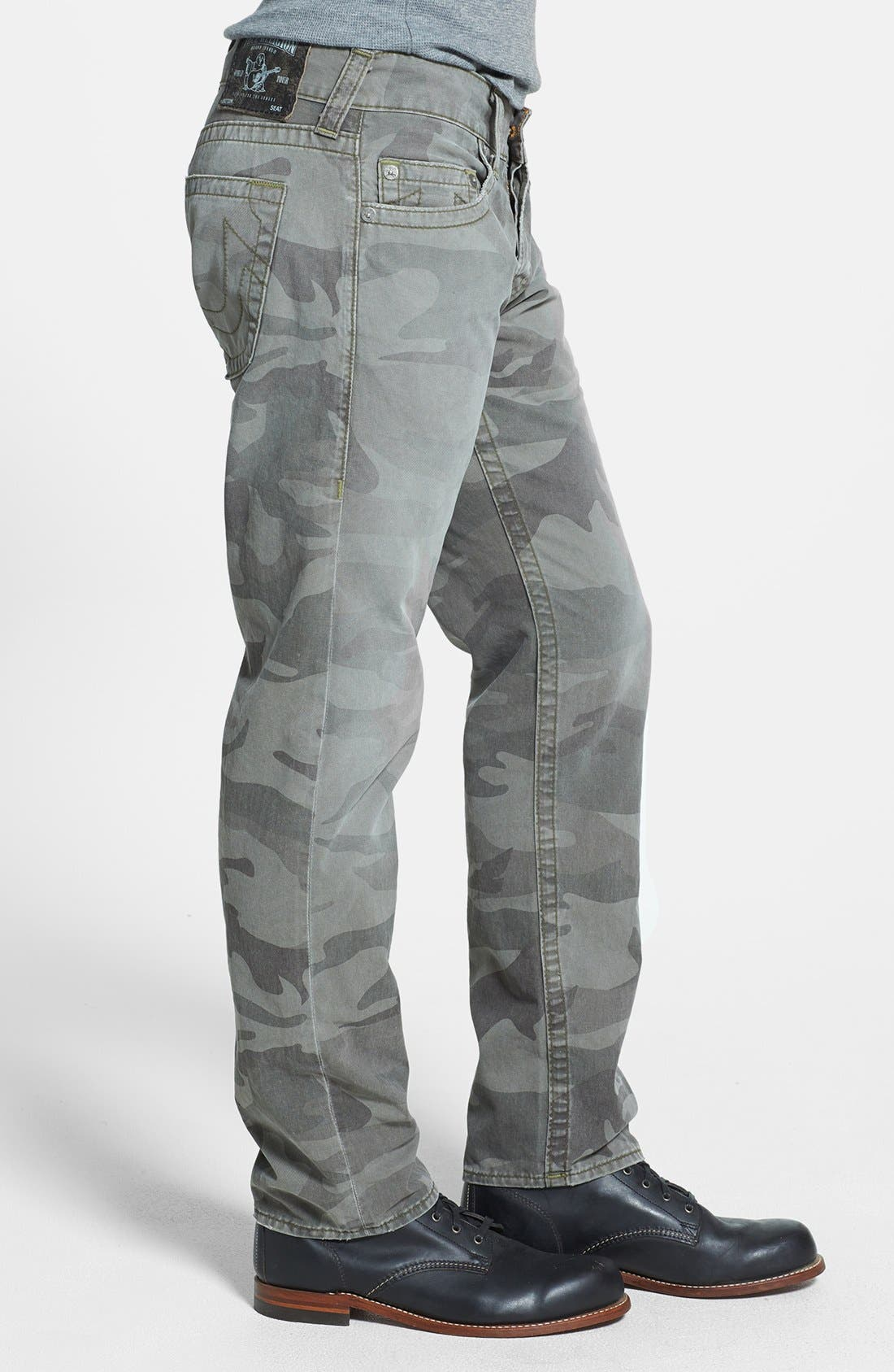Alternate Image 3  - True Religion Brand Jeans 'Geno' Straight Leg Camo Jeans (Abn Deringer)
