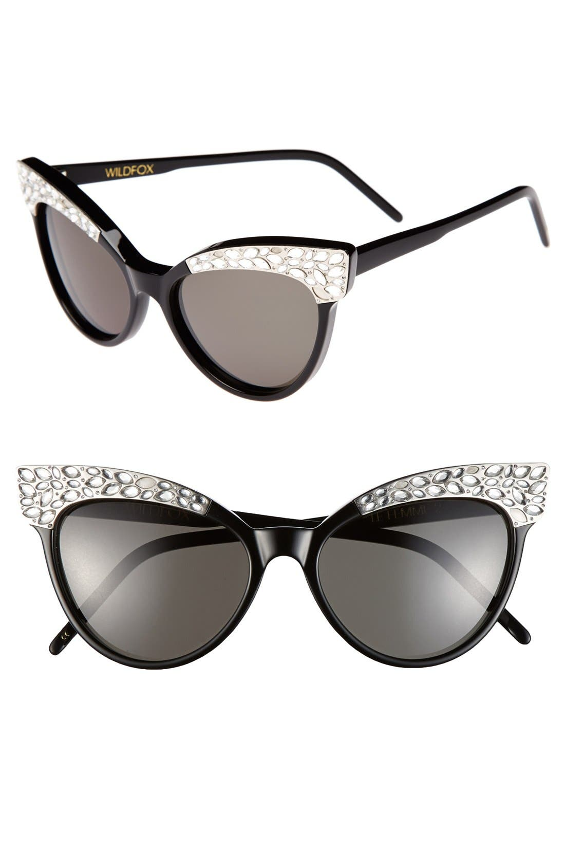 Alternate Image 1 Selected - Wildfox 'Le Femme 2' 55mm Cat Eye Sunglasses