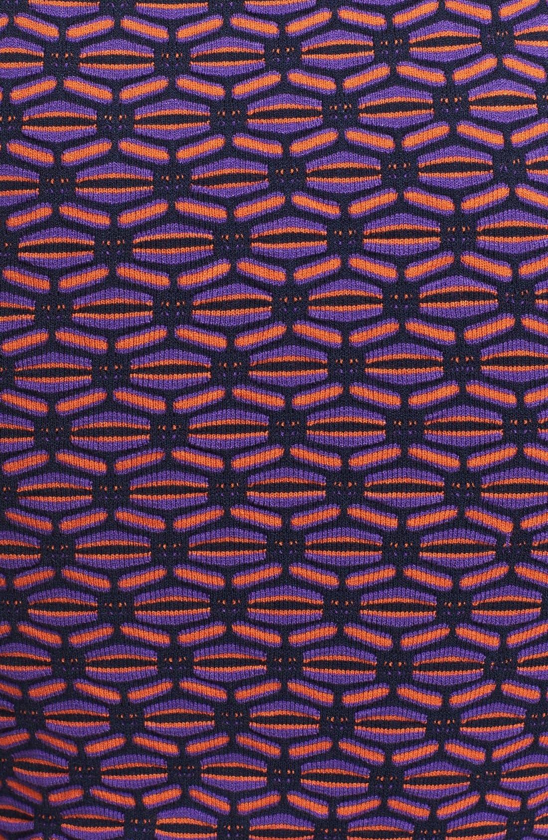 Alternate Image 3  - M Missoni Honeycomb Stripe V-Neck Dress