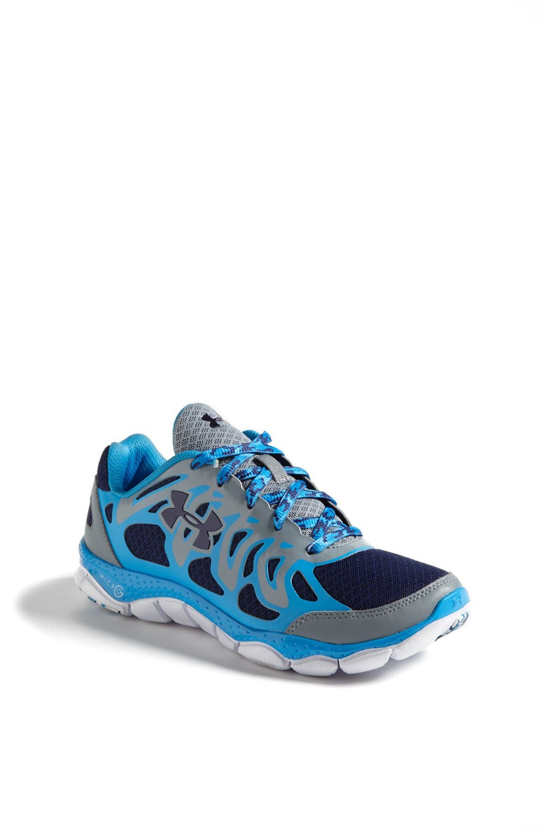 Main Image - Under Armour 'Micro G™ Engage' Athletic Shoe (Big Kid)