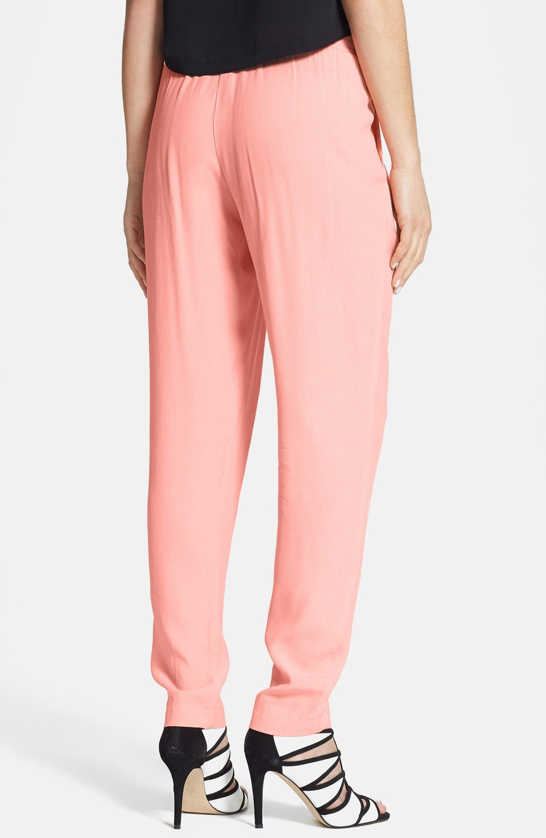 Alternate Image 2  - WAYF Front Pleat Crepe Track Pants