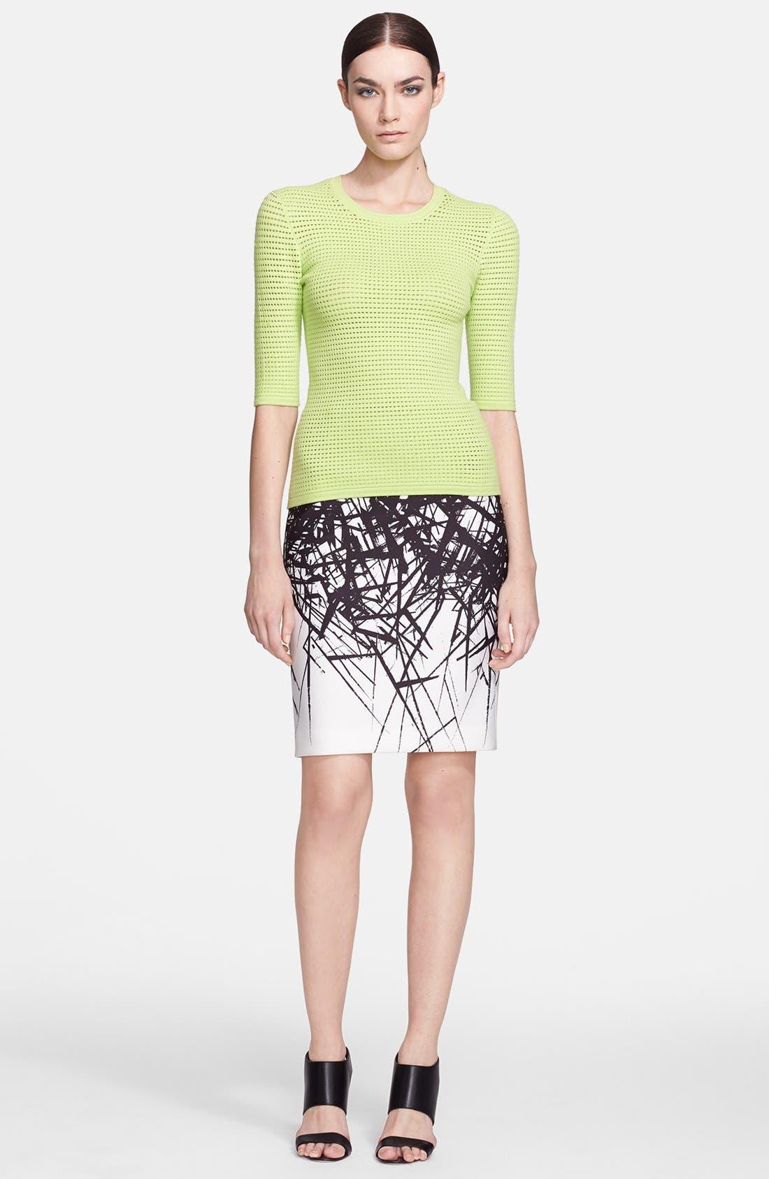Alternate Image 4  - Yigal Azrouël Branch Print Scuba Skirt