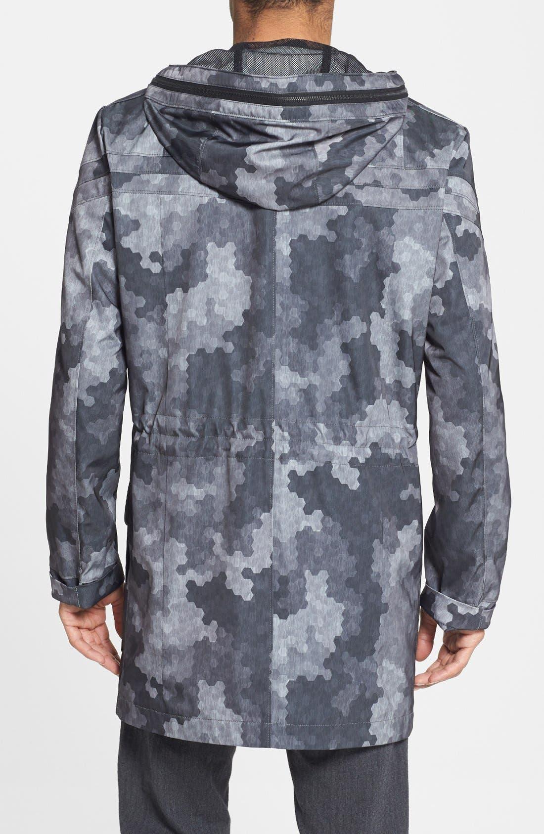 Alternate Image 2  - HUGO 'Meliot' Hooded Camo Trench Coat