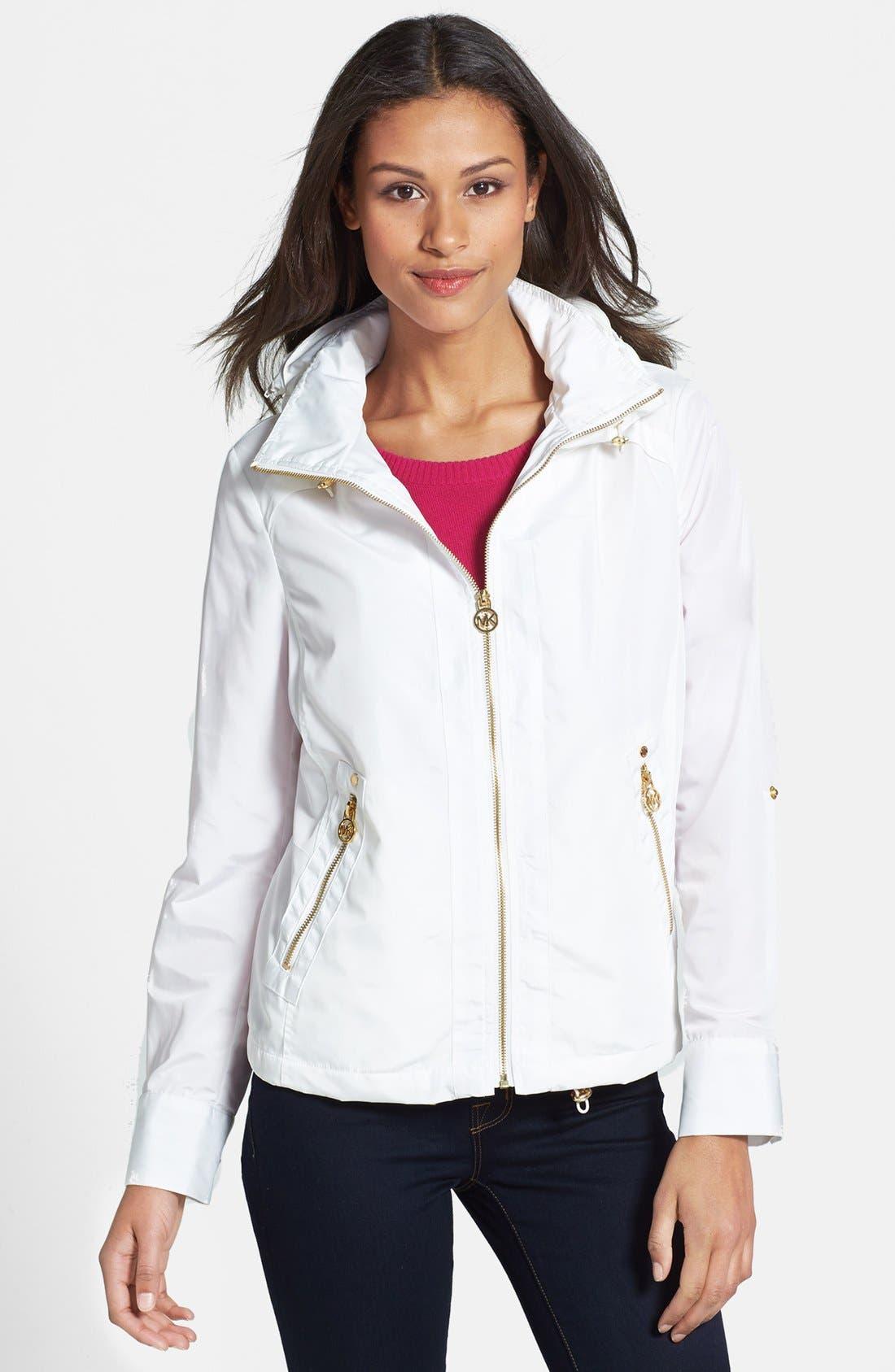 Alternate Image 1 Selected - MICHAEL Michael Kors Hooded Blouson Jacket