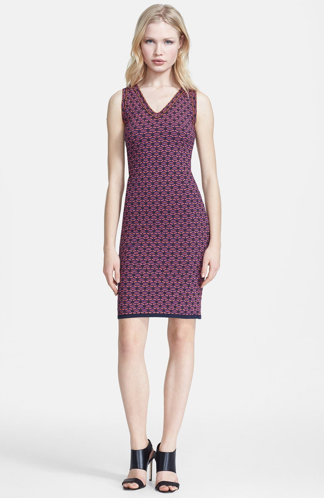 Main Image - M Missoni Honeycomb Stripe V-Neck Dress