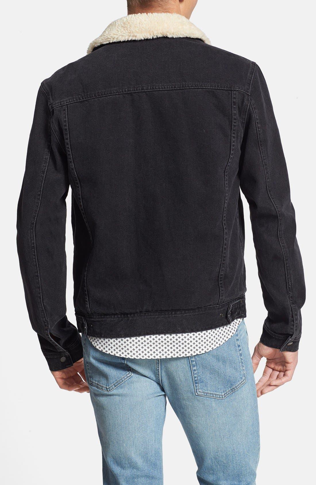 Alternate Image 2  - Topman Lined Denim Jacket