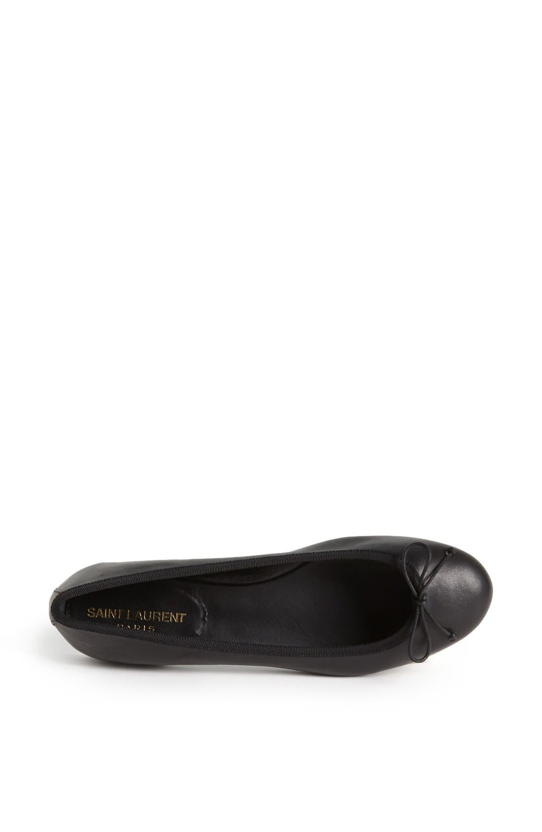 Alternate Image 3  - Saint Laurent 'Dance' Leather Ballet Flat