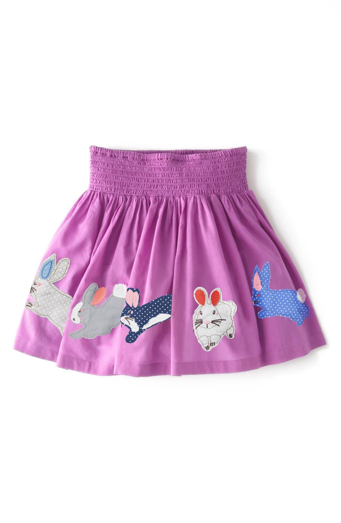 Alternate Image 1 Selected - Mini Boden Fun Appliqué Skirt (Toddler Girls, Little Girls & Big Girls)(Online Only)