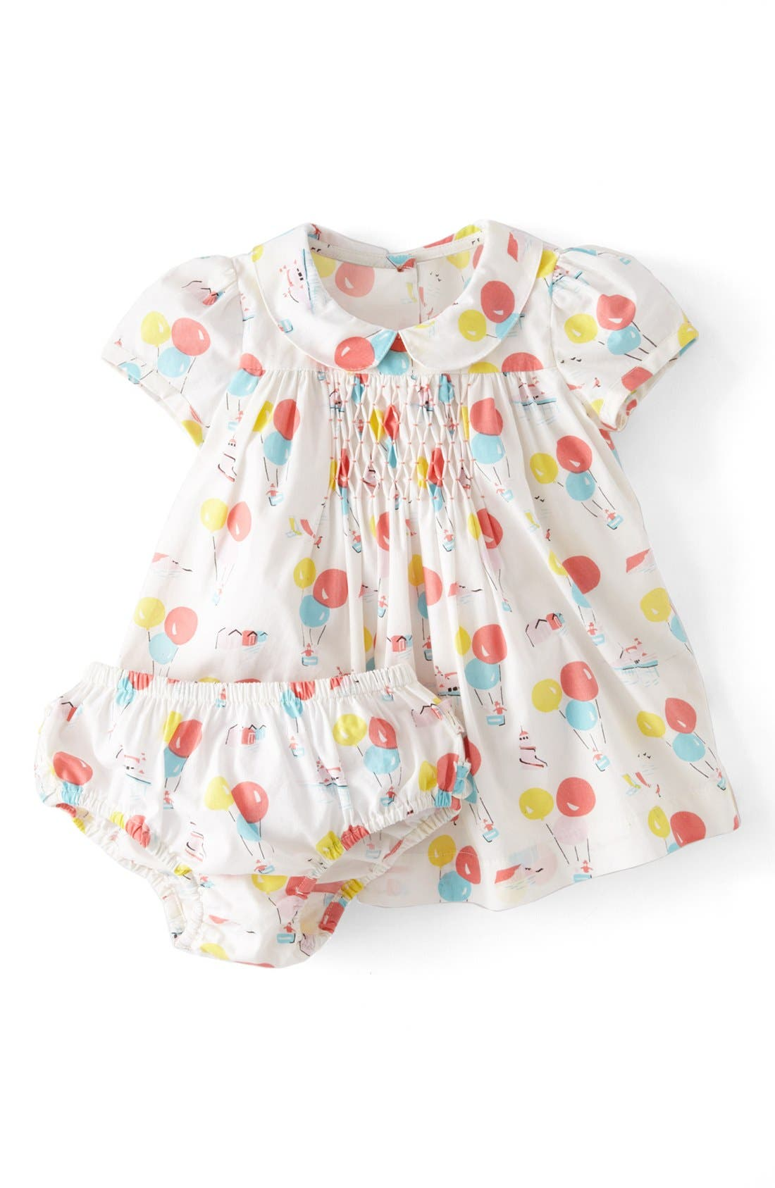 Alternate Image 1 Selected - Mini Boden 'Pretty Printed' Tea Dress (Baby Girls)