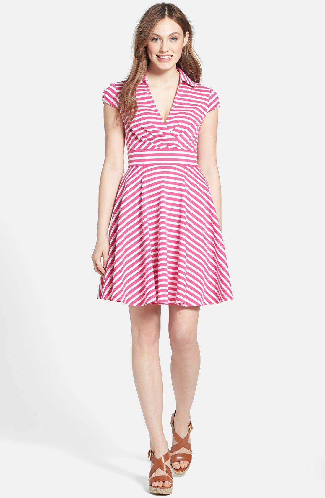 Alternate Image 3  - Betsey Johnson Stripe Fit & Flare Dress