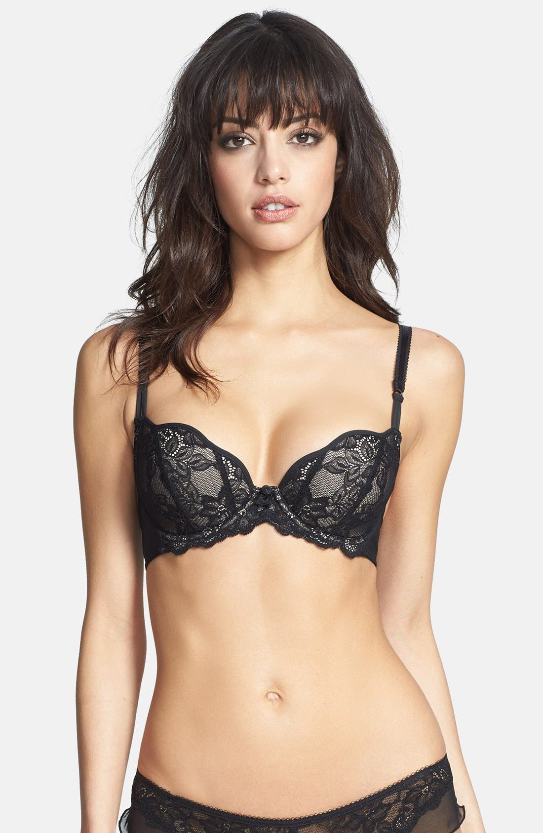 Main Image - b.tempt'd by Wacoal 'B Delighted' Memory Foam T-Shirt Demi Bra