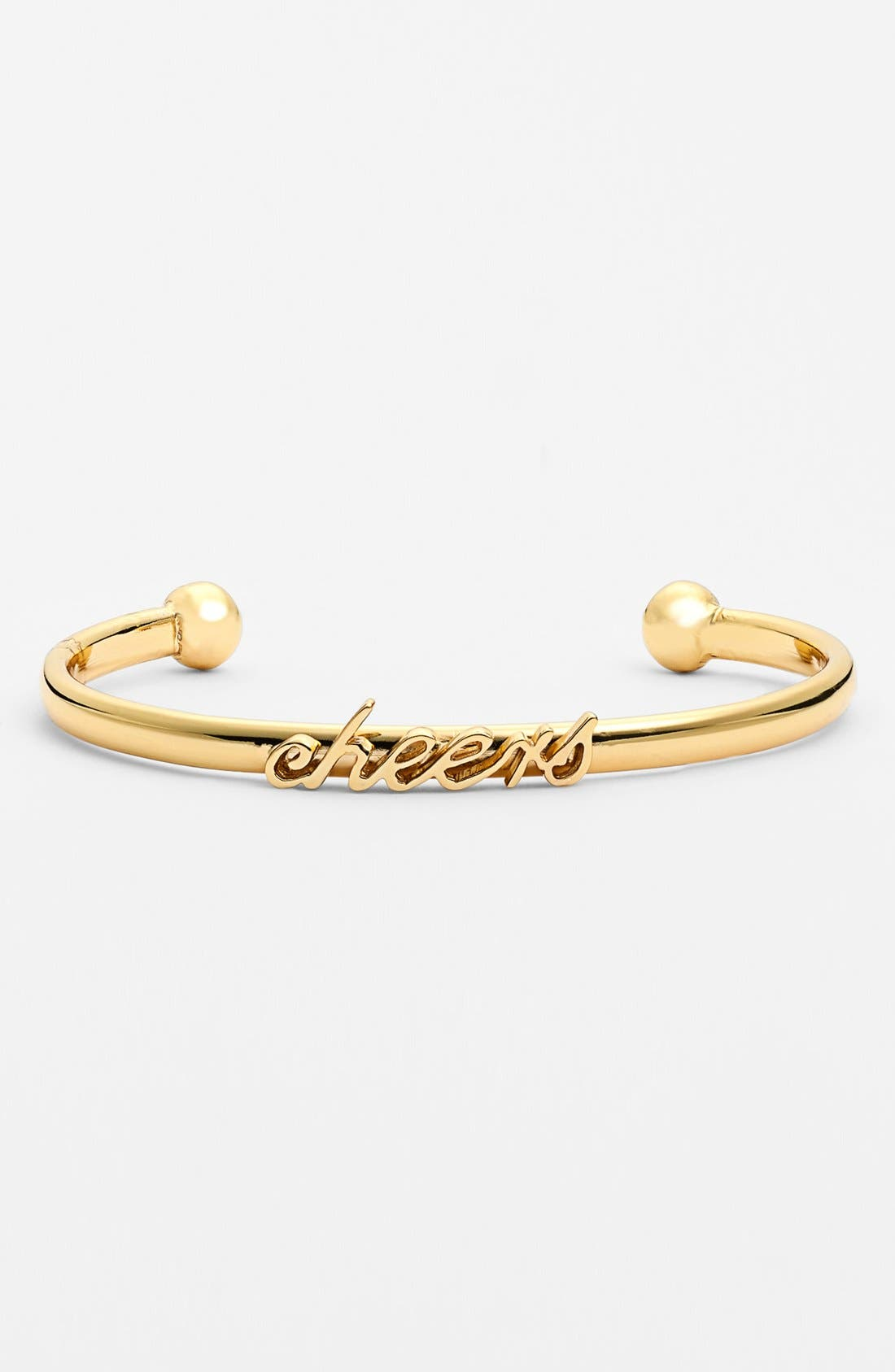Alternate Image 1 Selected - kate spade new york 'cheers' script cuff bracelet