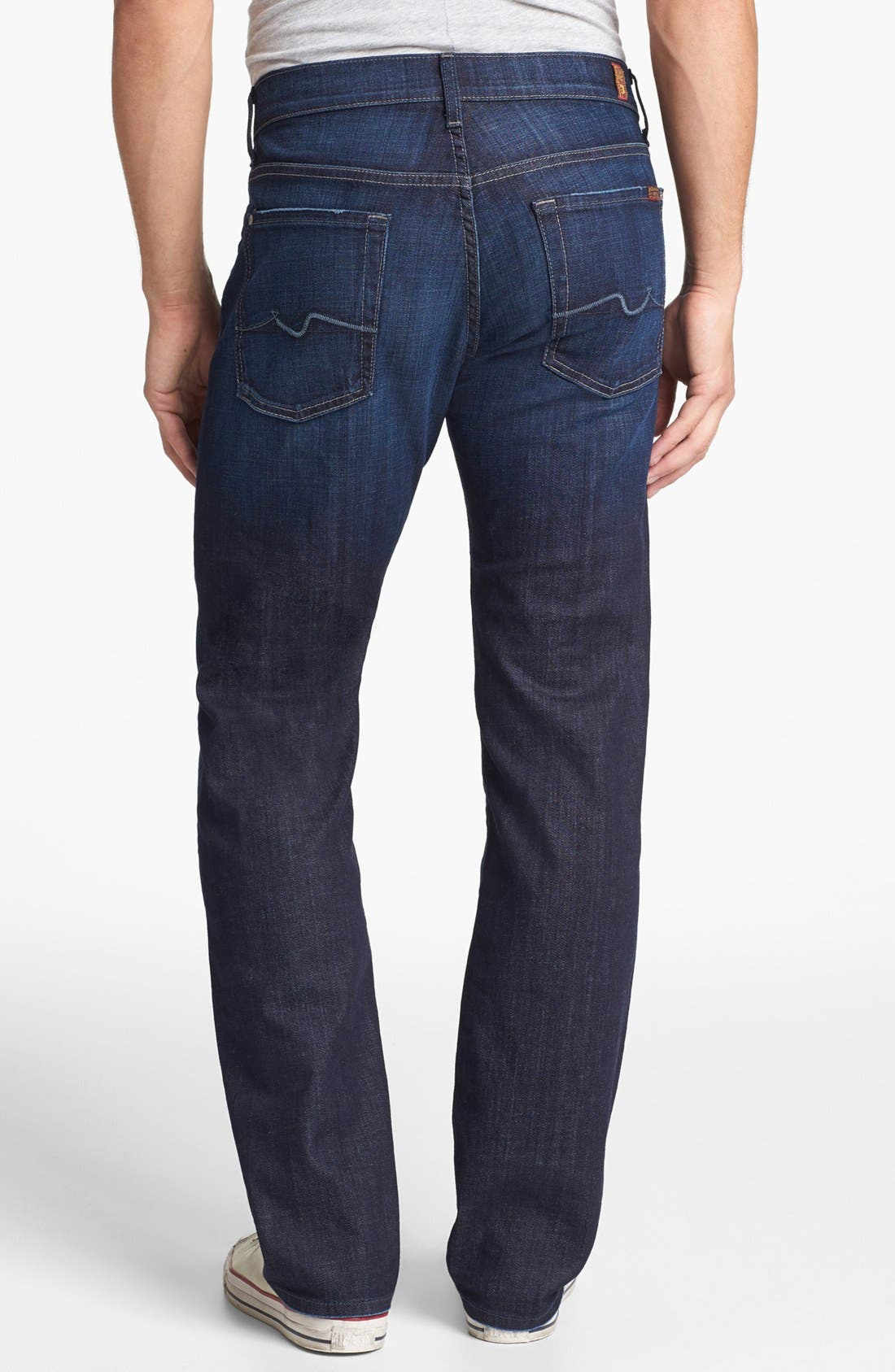 Alternate Image 2  - 7 For All Mankind® 'Austyn' Relaxed Straight Leg Jeans (Los Angeles Dark)
