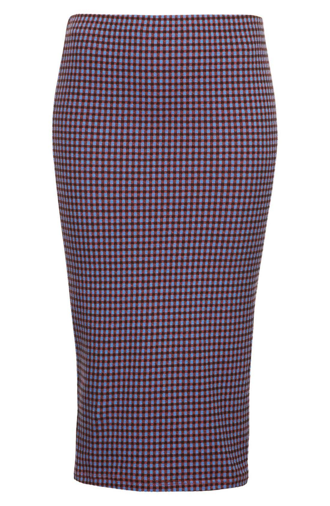 Alternate Image 3  - Topshop Gingham Tube Skirt