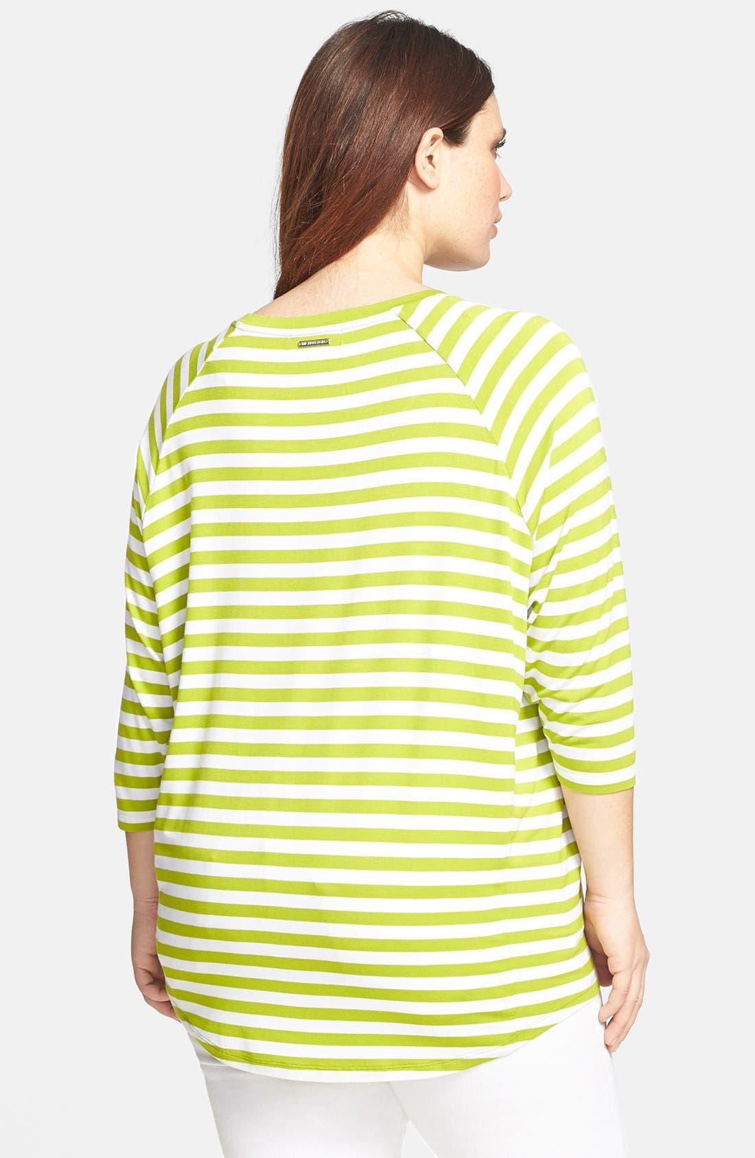Alternate Image 2  - MICHAEL Michael Kors Stripe Tee (Plus Size)