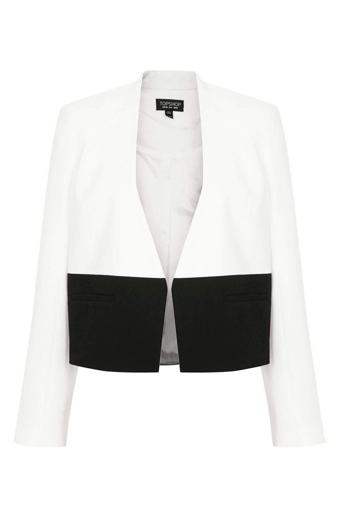 Alternate Image 3  - Topshop 'Carrie' Colorblock Jacket