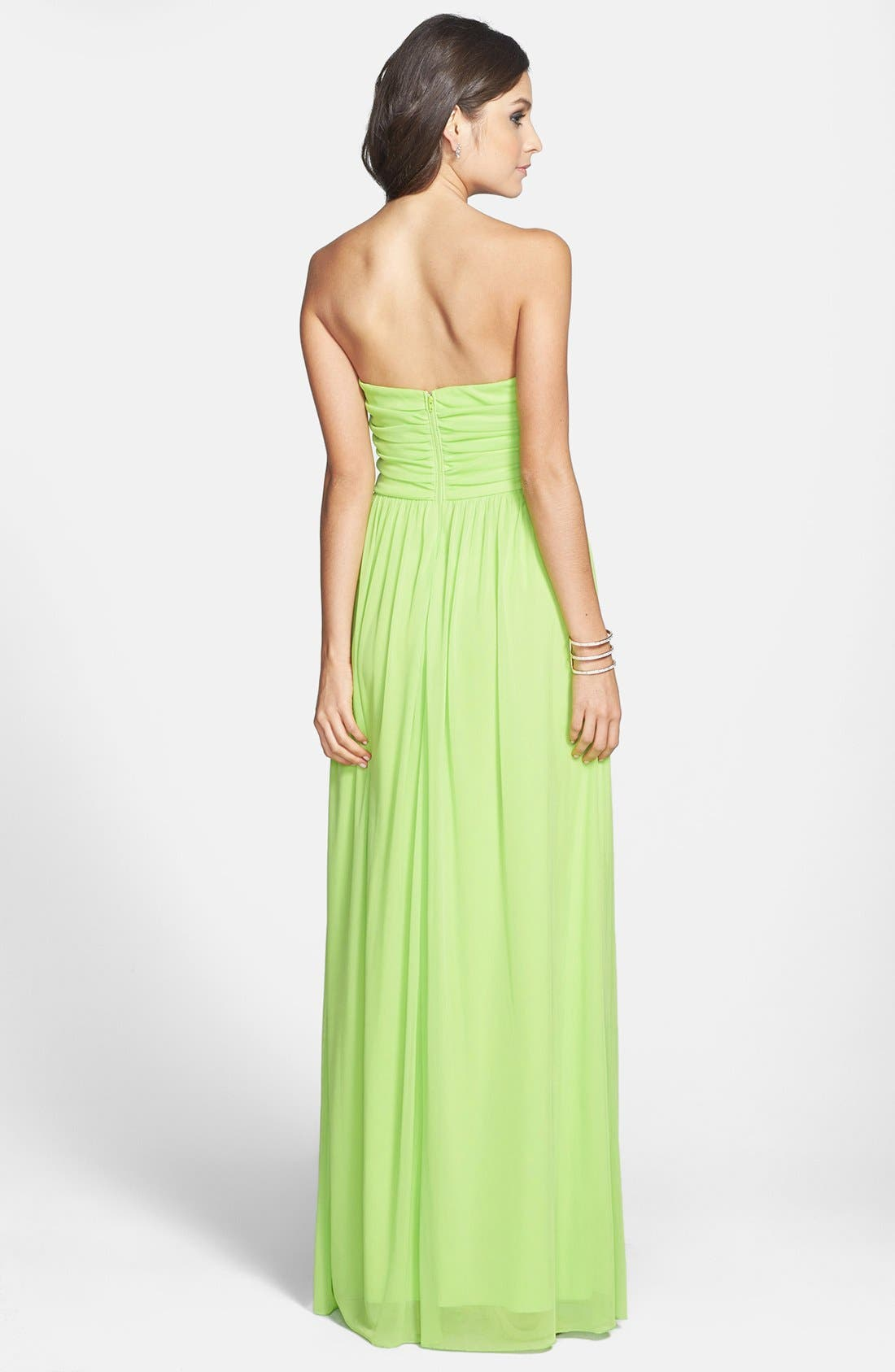 Alternate Image 2  - Way-In Embellished Sweetheart Neck Gown (Juniors) (Online Only)