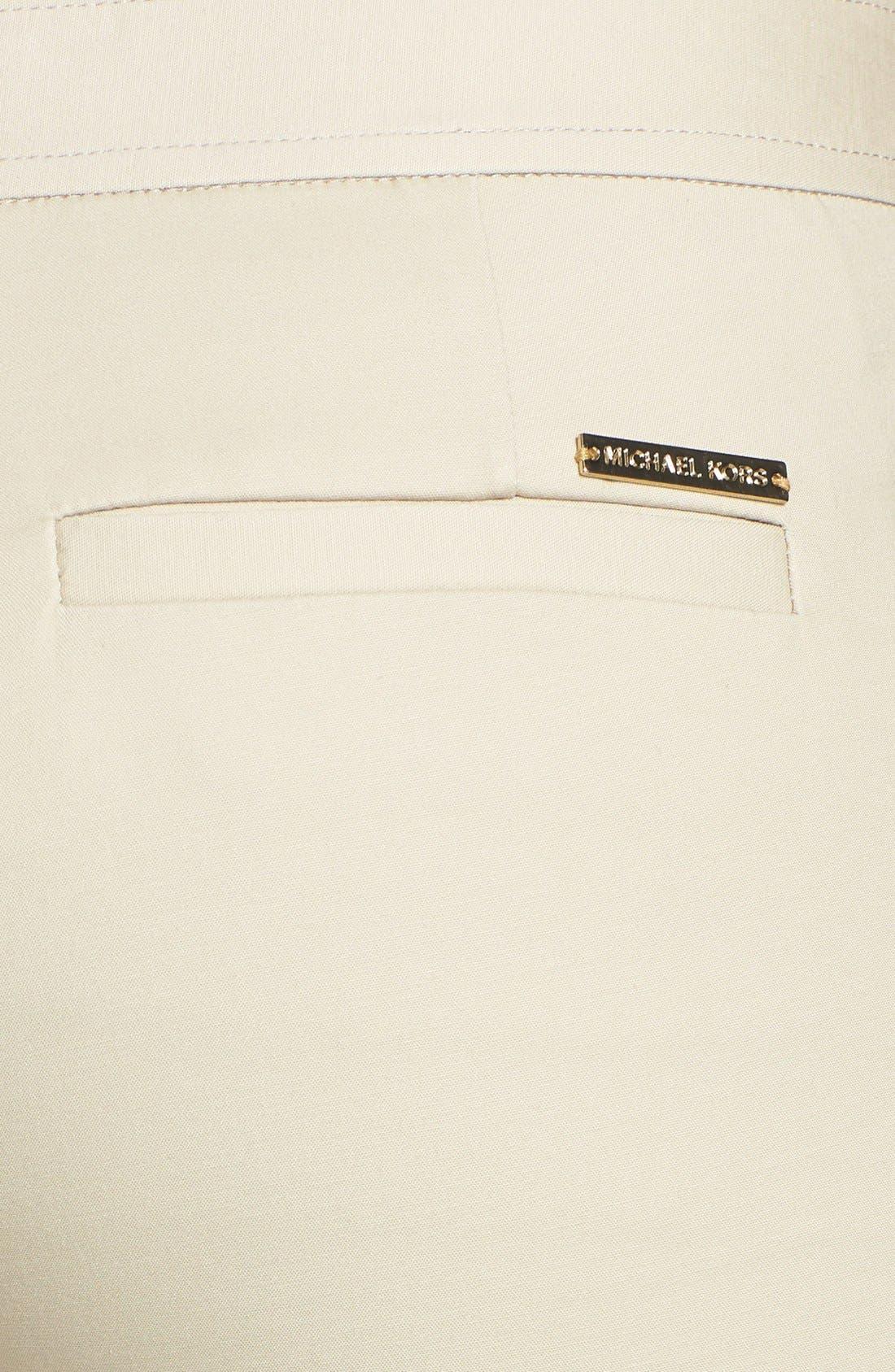 Alternate Image 3  - MICHAEL Michael Kors 'Sexy' Hardware Detail Stretch Cotton Pants