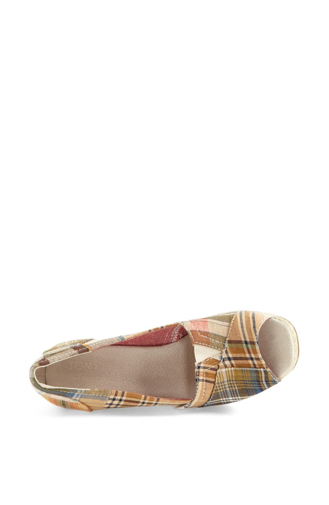 Alternate Image 3  - TOMS 'Madras Plaid' Wedge (Women)