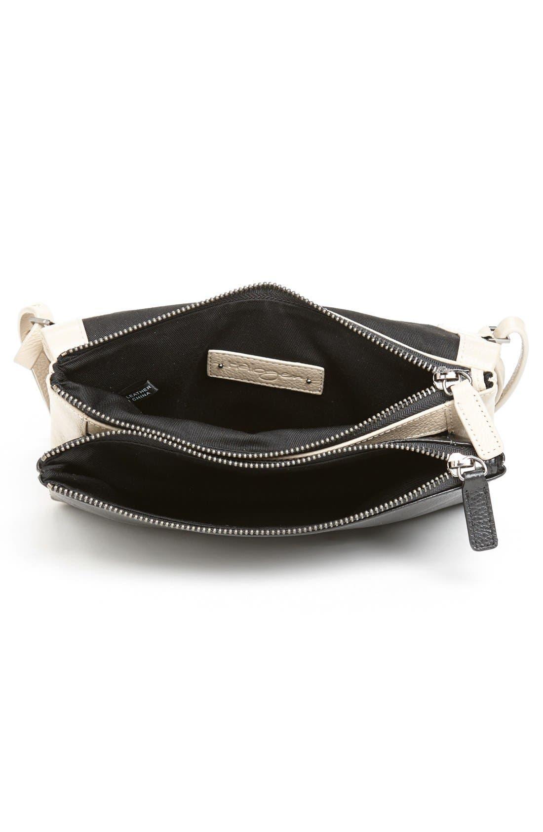 Alternate Image 3  - Halogen® Two-Tone Leather Crossbody Bag