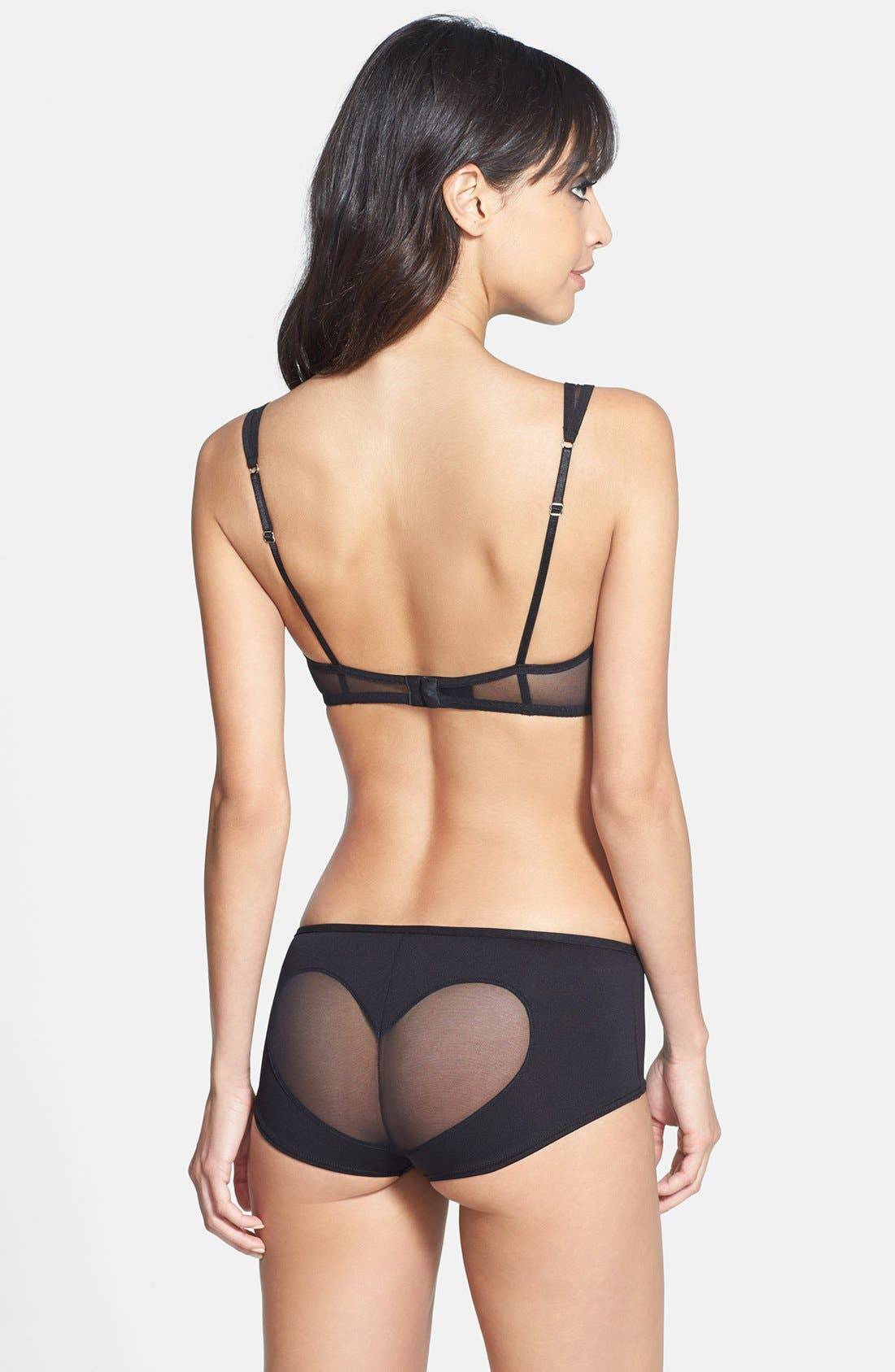 Alternate Image 4  - Only Hearts 'LouLou' Sheer Heart Bralette