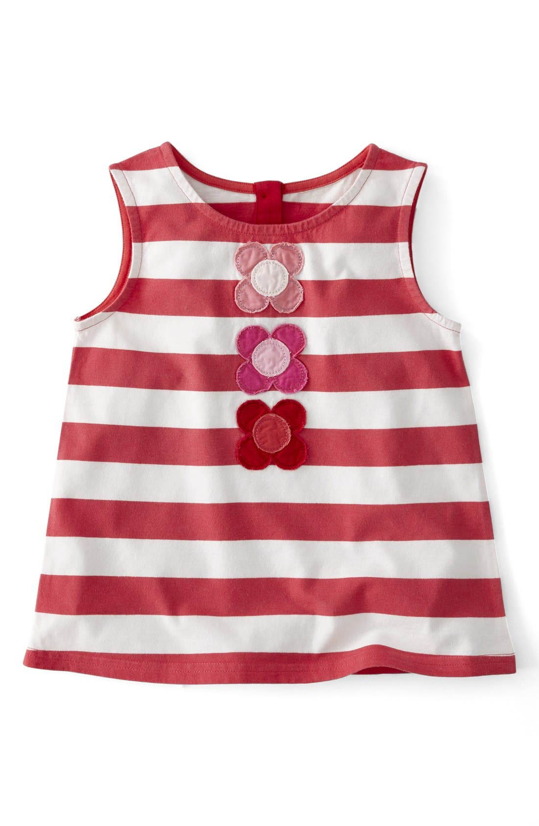 Alternate Image 1 Selected - Mini Boden 'Fab Flower' A-Line Sleeveless Top (Toddler Girls, Little Girls & Big Girls)