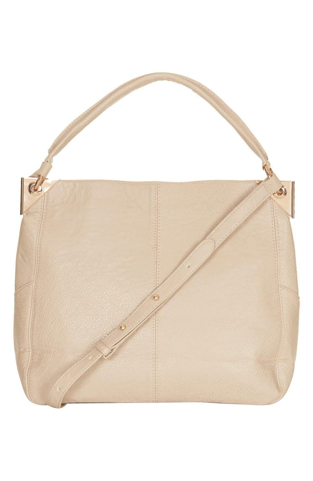 Alternate Image 1 Selected - Topshop Faux Leather Hobo Bag